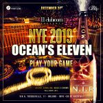 """DEC 31st – 11clubroom's New Year's Eve 2019: """"Ocean's Eleven Party""""!"""